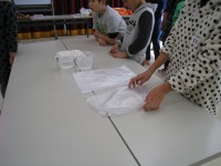 実験道具のビニール袋